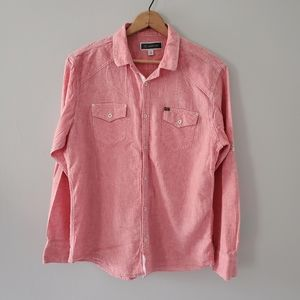 INC Coral Pink Button Down Shirt